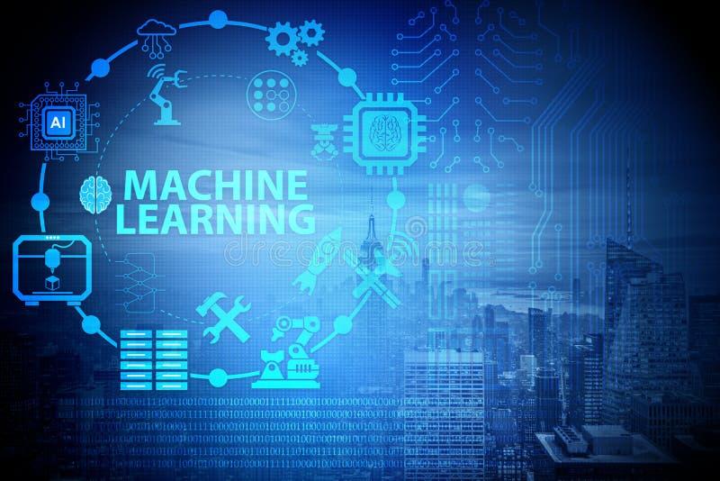 Pojęcie nowożytny ja technologia z maszynowym uczenie royalty ilustracja