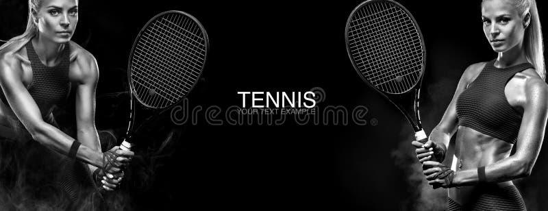 pojęcie odizolowywający sporta biel Bawi się kobiety gracz w tenisa z kantem kosmos kopii Pekin, china Tenisowy plakat obraz royalty free