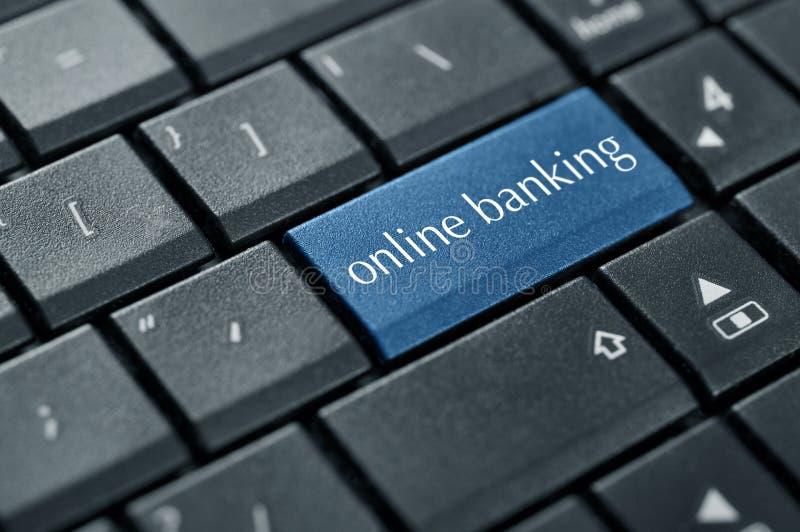 Pojęcie online bankowość fotografia stock