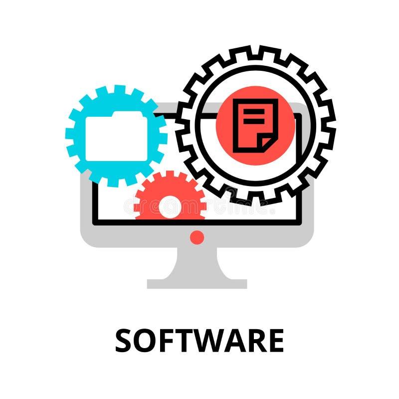 Pojęcie oprogramowanie ikona dla grafiki i sieć projekta, ilustracji