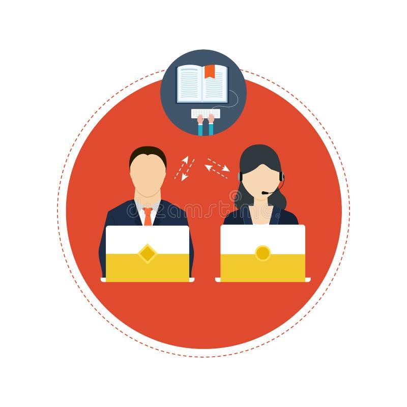 Pojęcie ordynacyjne usługa i nauczanie online royalty ilustracja