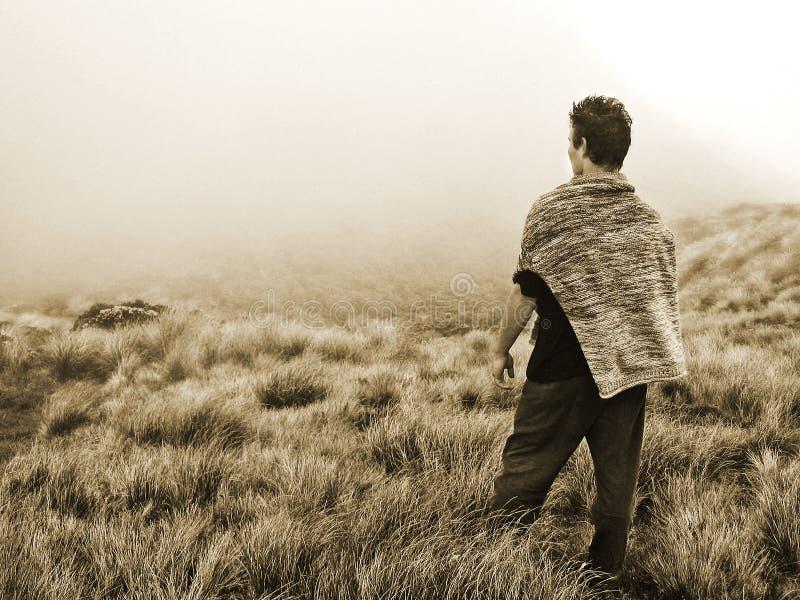 Pojęcie osoby okładzinowa niewiadoma przyszłość & ciężki wybór obrazy stock