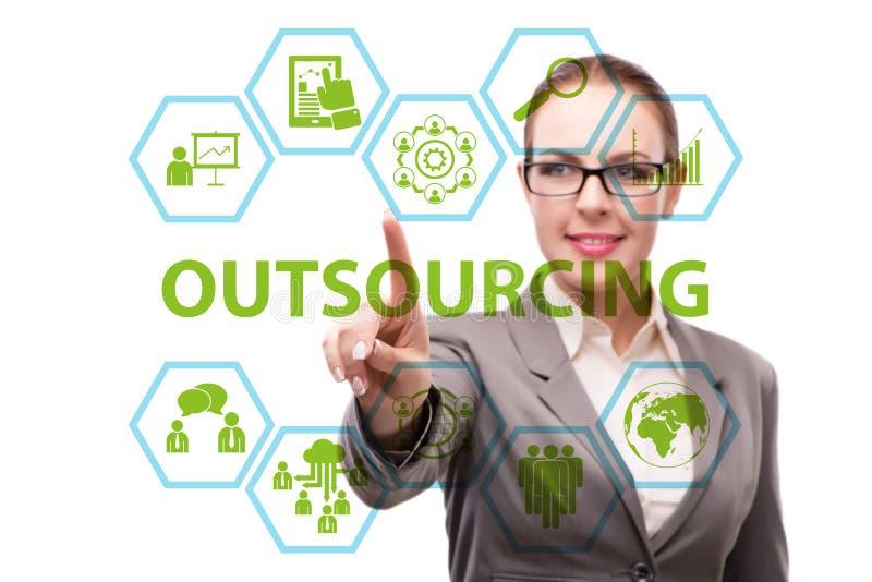 Pojęcie outsourcing w nowożytnym biznesie obrazy royalty free
