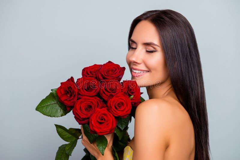 Pojęcie piękno czystości czułości womanhood blisko portret zdjęcie royalty free