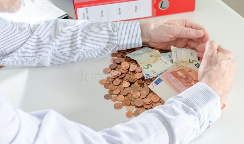 Pojęcie pieniężna ochrona obrazy royalty free