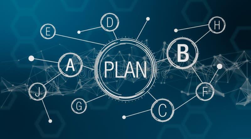 Pojęcie planu b ilustracja wektor