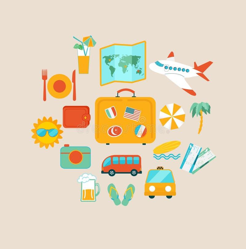 Pojęcie podróżowanie ilustracja wektor