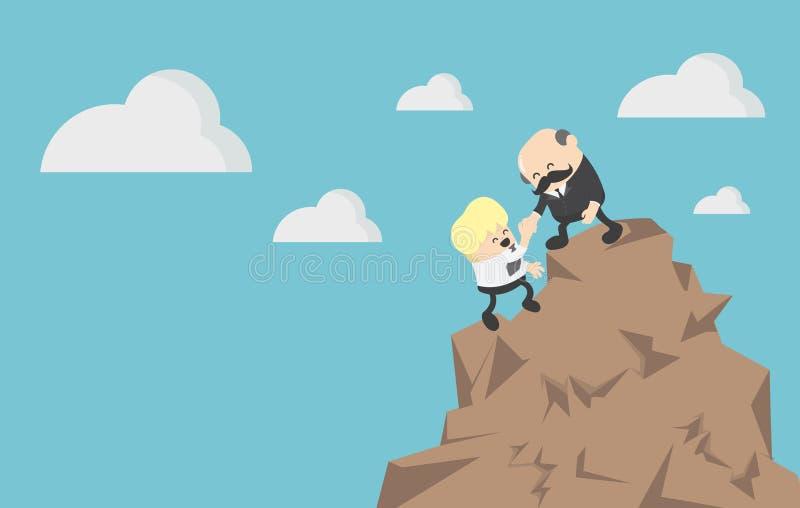 Pojęcie pomocy i pomocy pojęcia dwa biznesowy biznesmen cli ilustracji