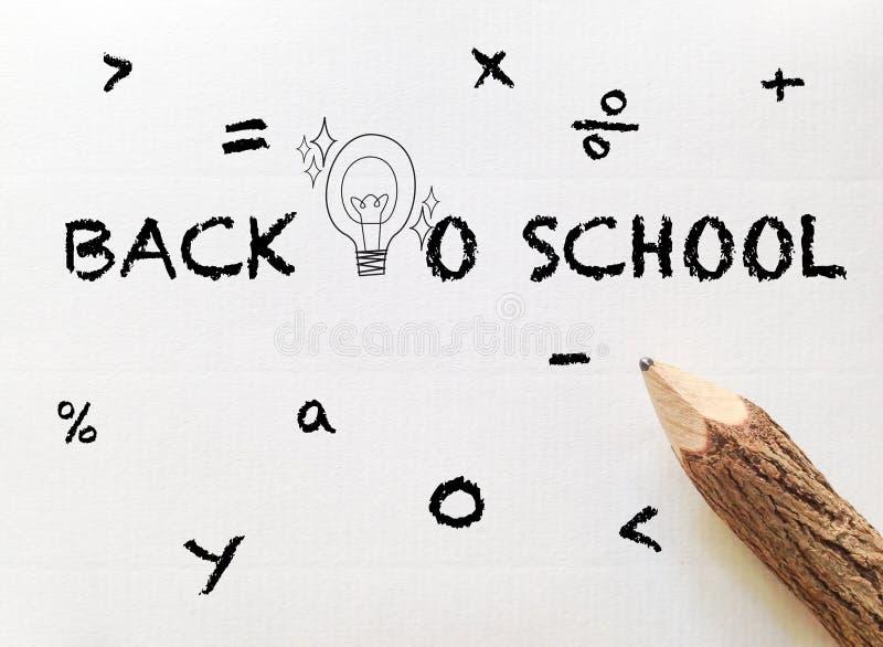 Pojęcie pomysł dla z powrotem szkół sformułowania royalty ilustracja
