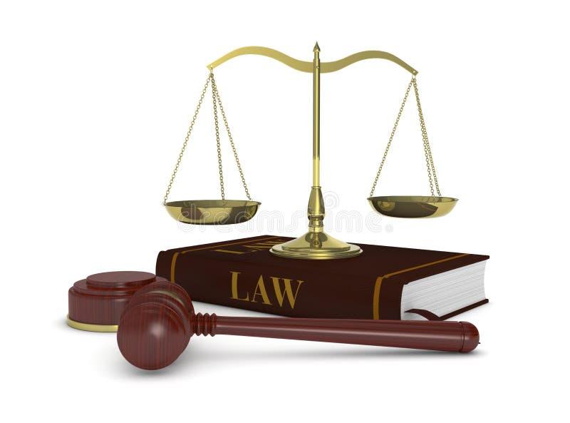 Pojęcie prawo i sprawiedliwość ilustracja wektor