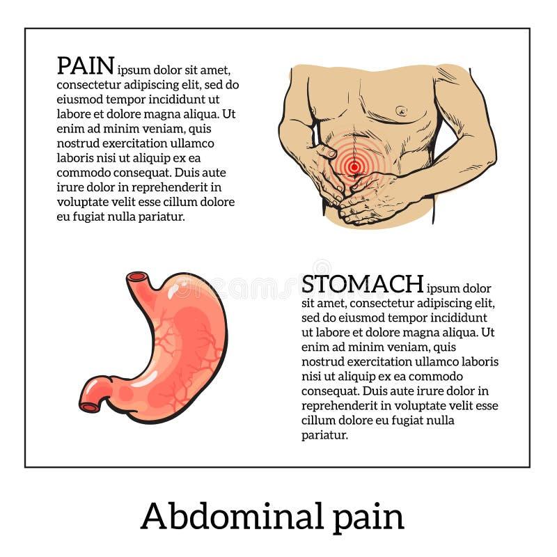 Pojęcie problemy zdrowotni, żołądek choroba ilustracji