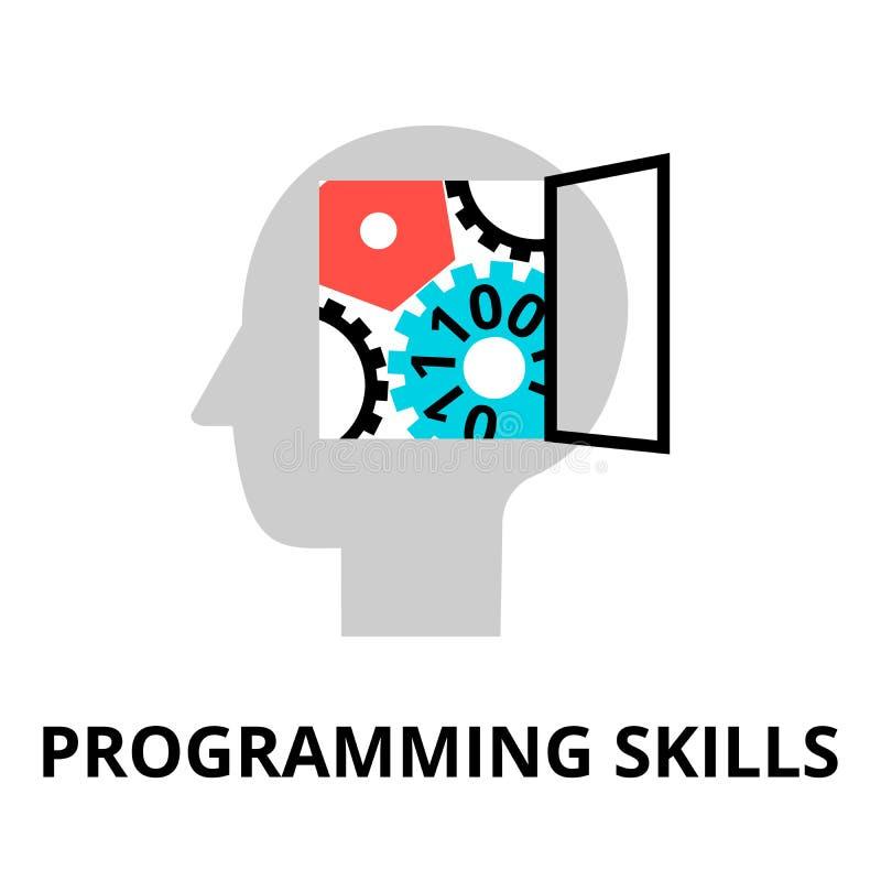 Pojęcie programowanie umiejętności ikona ilustracja wektor