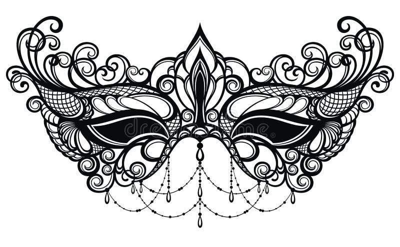 Pojęcie projekt z karnawał maską royalty ilustracja