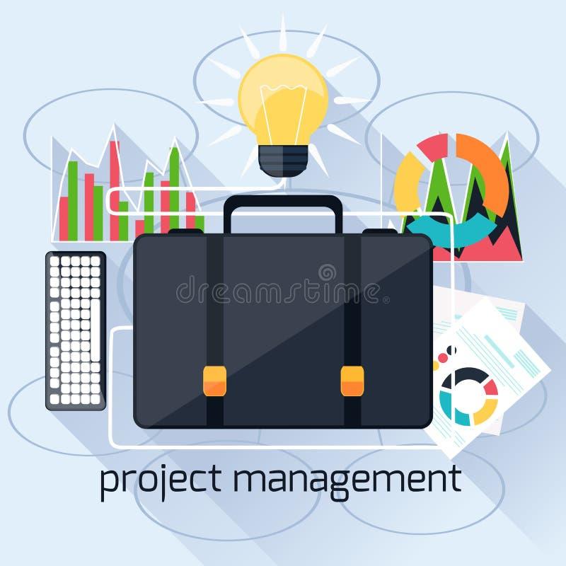 Pojęcie projekta mamagement ilustracji