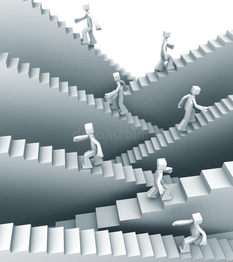 pojęcie przyrost kroczy sukces ilustracja wektor