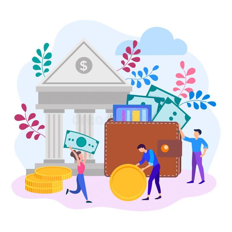 Pojęcie replenishment i konserwacja fundusze ilustracji