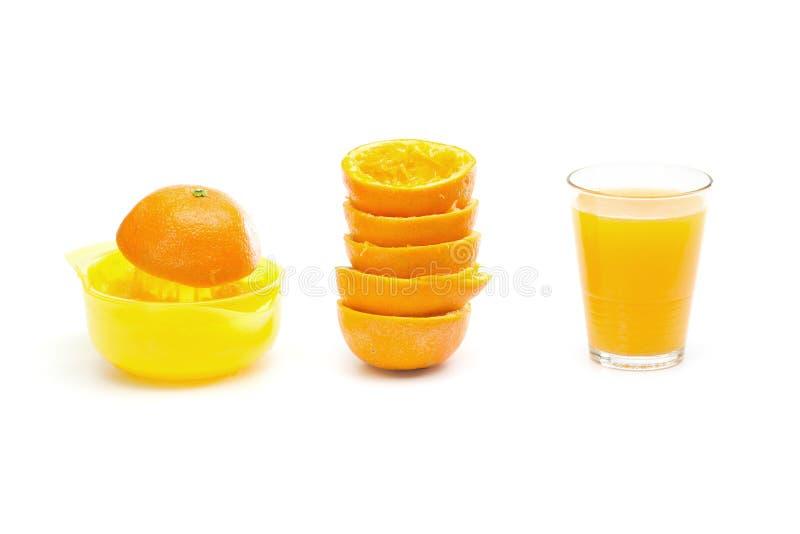 Pomarańcze - robić sok pomarańczowy obraz royalty free