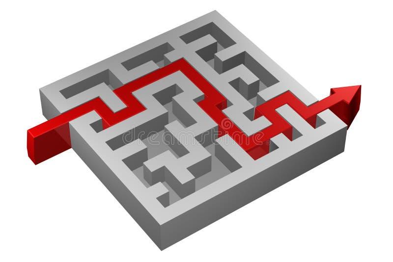 Download Pojęcie: Rozwiązanie ilustracji. Ilustracja złożonej z zawiłość - 65225819