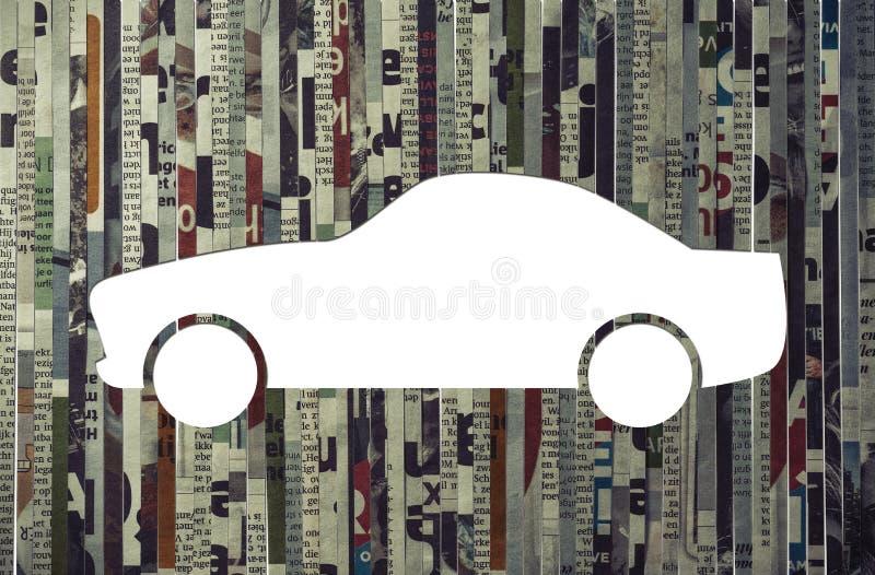 Pojęcie samochodowy kupienie, czynsz, ekspresowa dostawa ilustracji