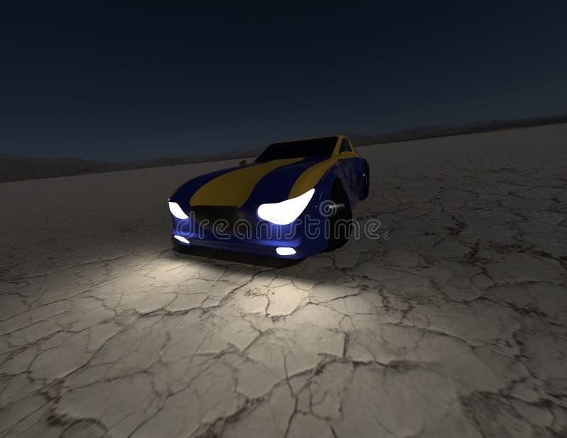 Pojęcie samochodowy rendering 3 obraz stock