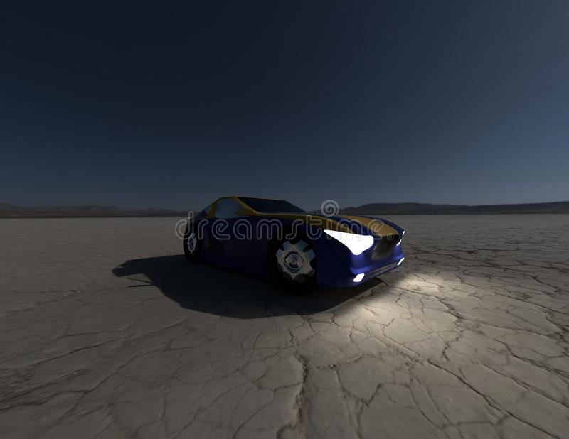 Pojęcie samochodowy rendering 4 zdjęcie stock