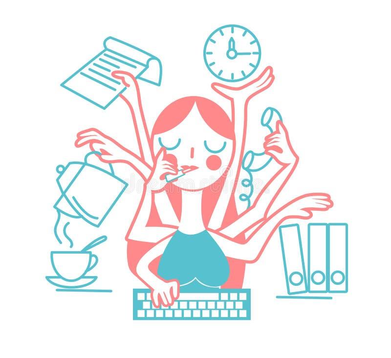 Pojęcie skuteczność kobieta ilustracji