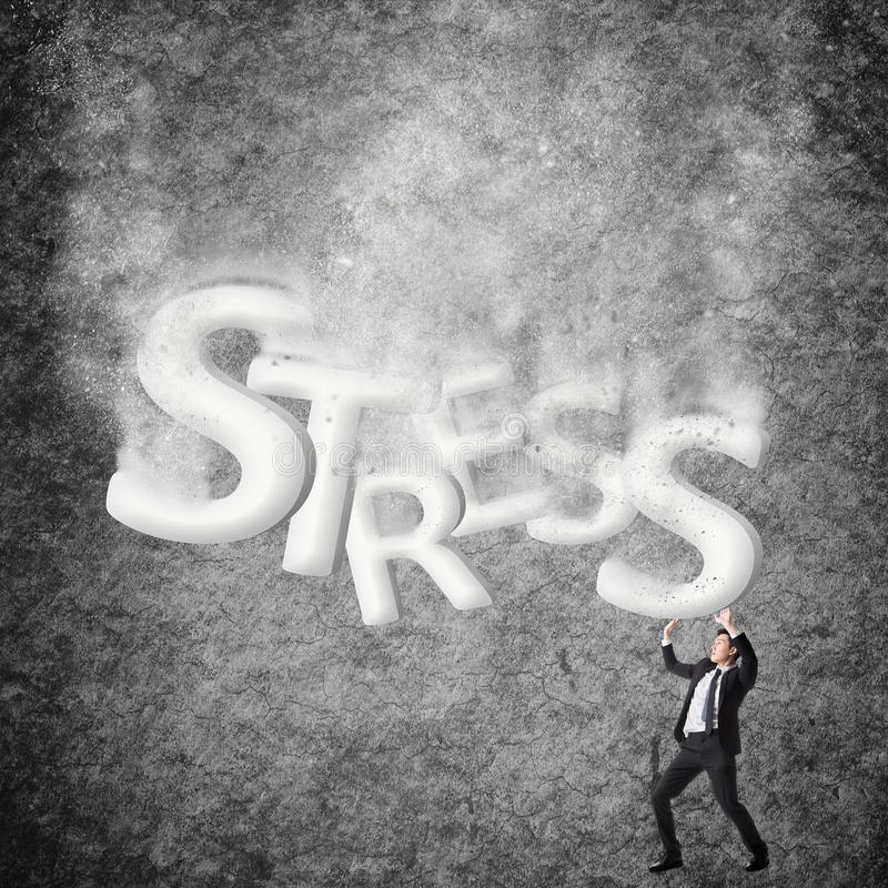 Pojęcie stres obrazy royalty free