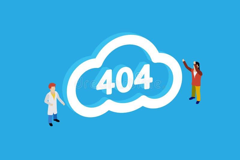 Pojęcie strona 404 Projekta 404 błąd ilustracji