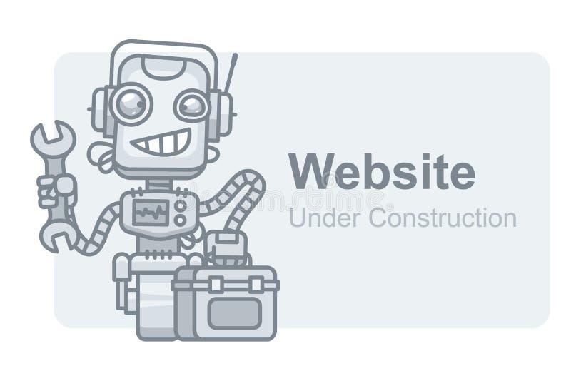 Pojęcie strony internetowej robota mienia W Budowie wyrwanie royalty ilustracja