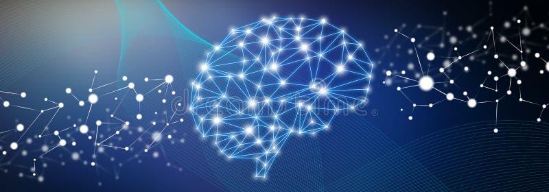 Pojęcie sztuczna inteligencja royalty ilustracja