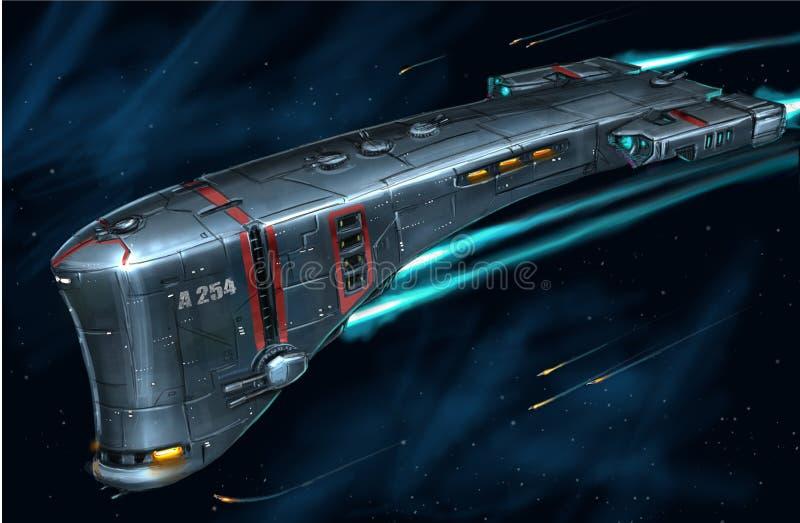 Pojęcie sztuki obraz Astronautyczny statek ilustracji