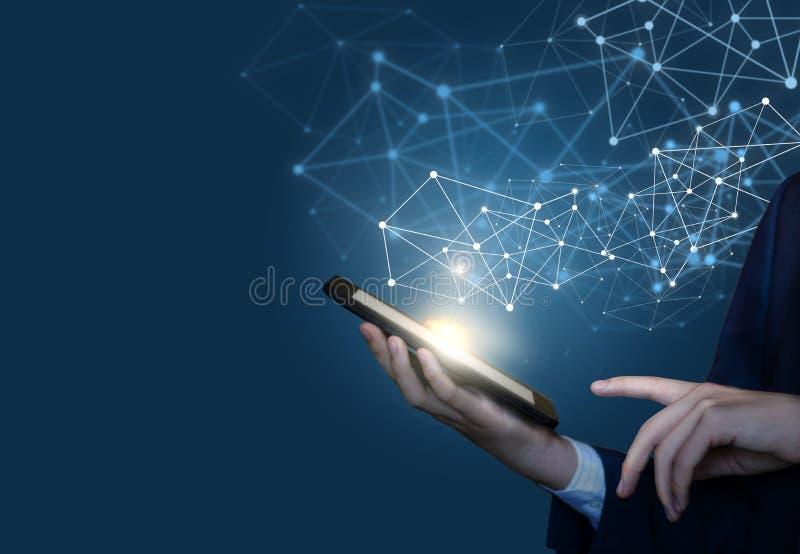 Pojęcie technologie dla złączonych użytkowników ilustracji