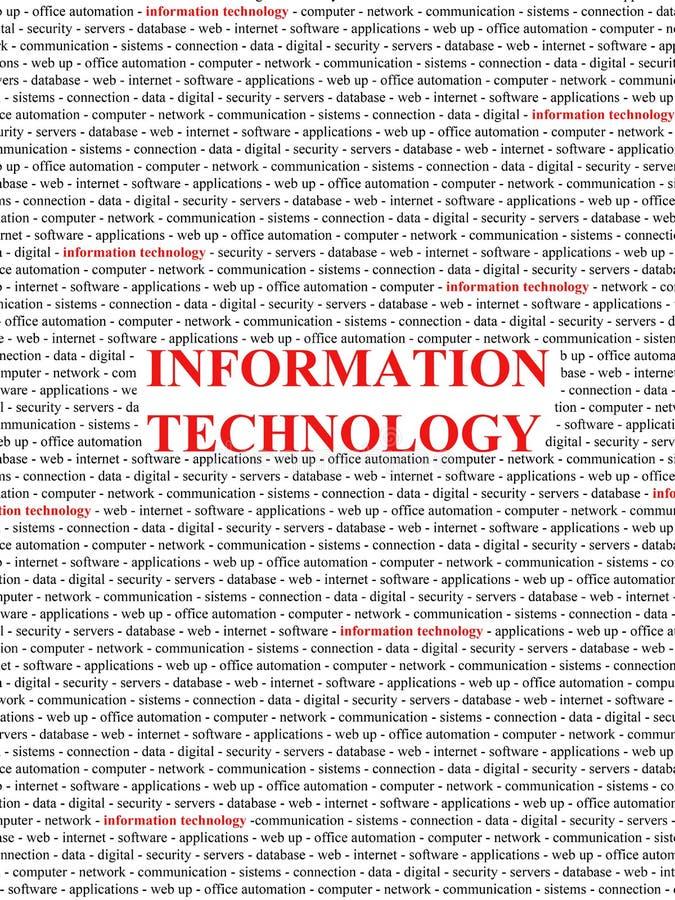 pojęcie technologie informacyjne ilustracja wektor