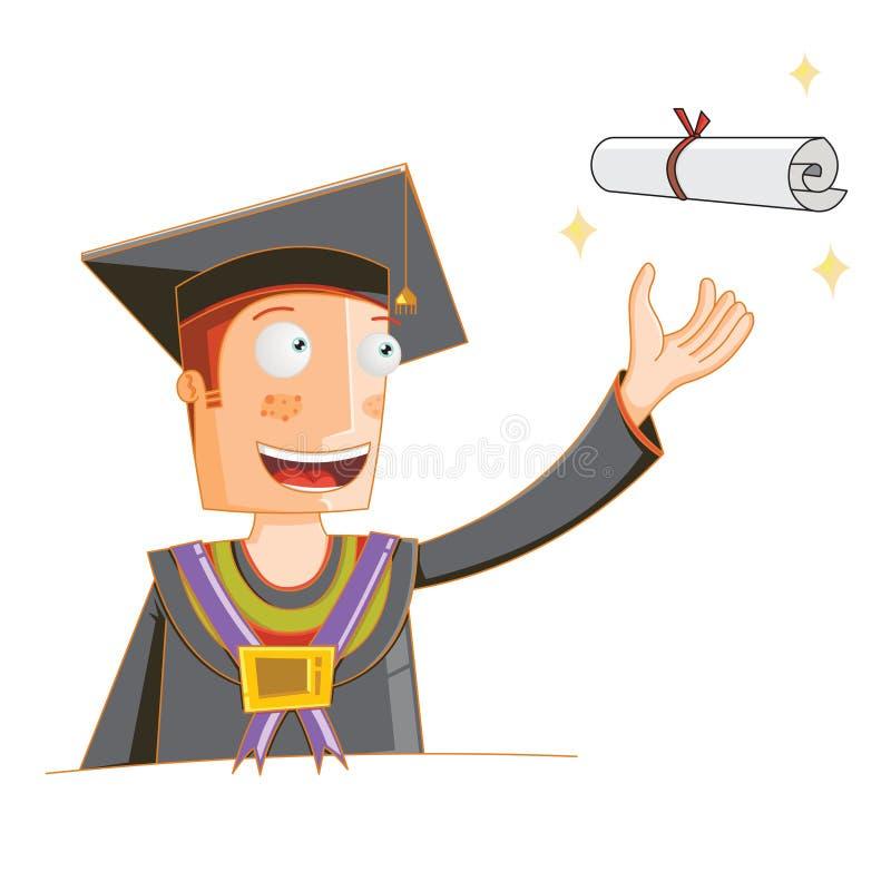 Pojęcie uczeń otrzymywa jego stopień ilustracja wektor