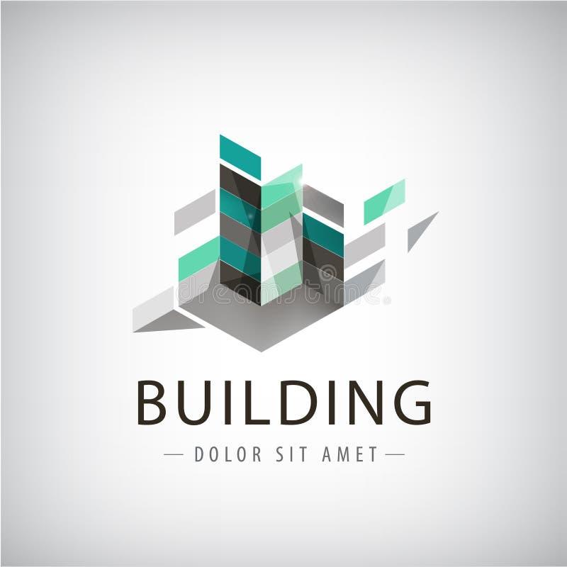 Pojęcie wektorowa grafika - Kolorowi budynki royalty ilustracja
