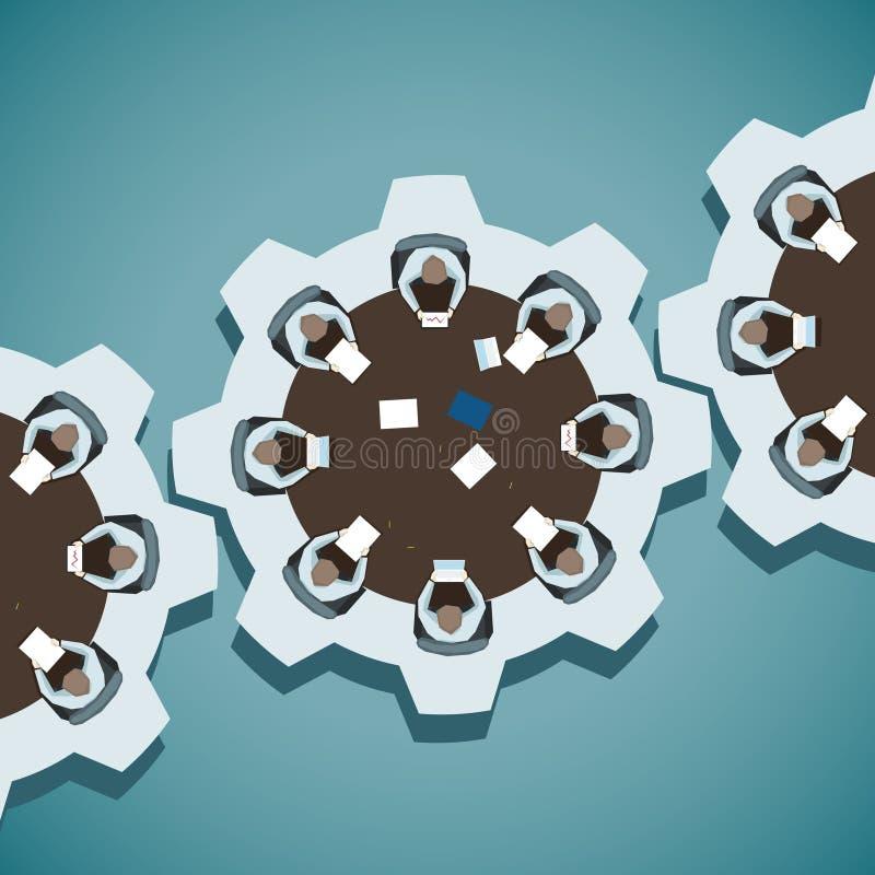 Pojęcie wektorowa ilustracja Brainstorming w biznesie royalty ilustracja