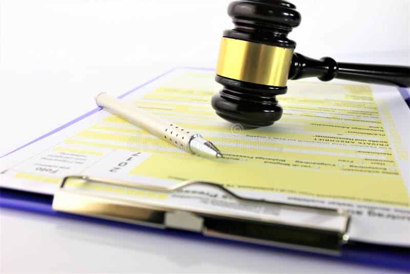 Pojęcie wizerunek formularzowa sprawiedliwość i zastosowanie obraz stock