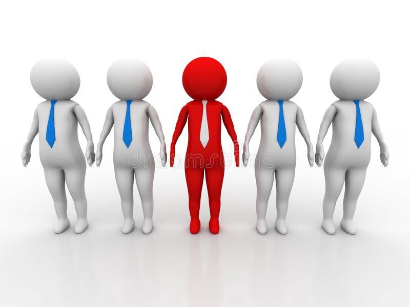 Pojęcie wizerunek reprezentuje sieć, networking, związek, ogólnospołeczne sieci, komunikacje, lider, przywódctwo pojęcie 3D rende ilustracja wektor
