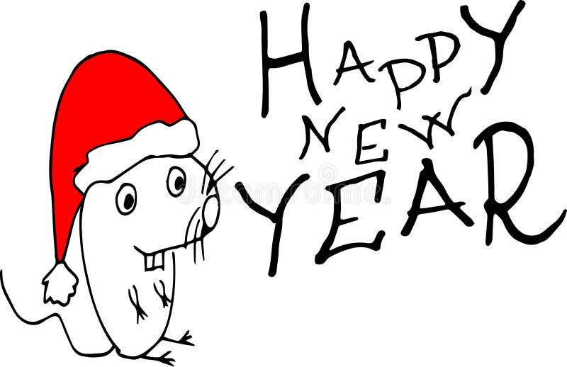 Pojęcie wizerunek symbolu chiński szczęśliwy nowy rok Kresk?wka szczur royalty ilustracja