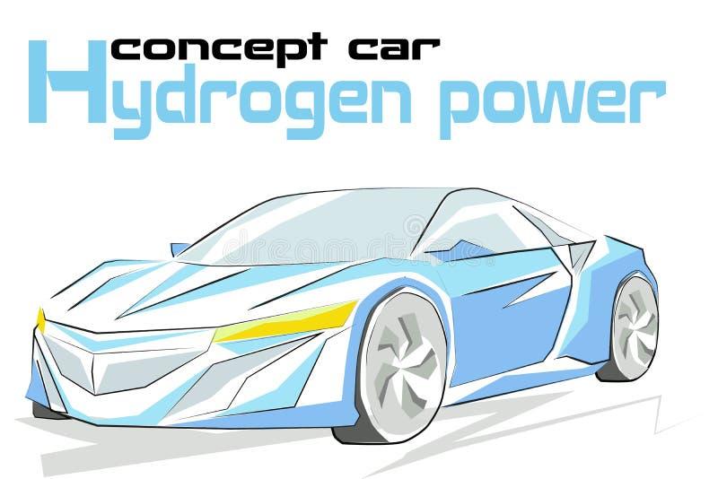 Pojęcie wodór samochodowa władza royalty ilustracja