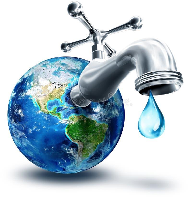 Pojęcie wodna konserwacja royalty ilustracja