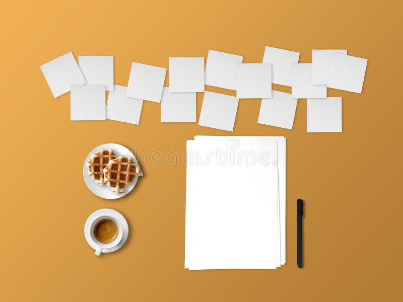 Pojęcie writing z wiele notatkami pomysły obrazy stock