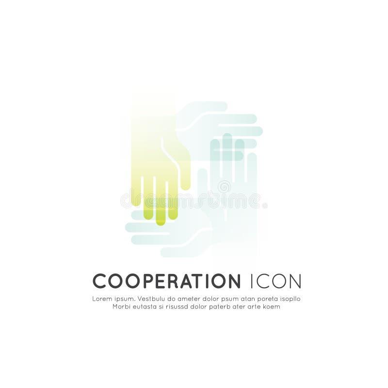 Pojęcie współpraca praca zespołowa, grupa, partnerstwo ilustracji