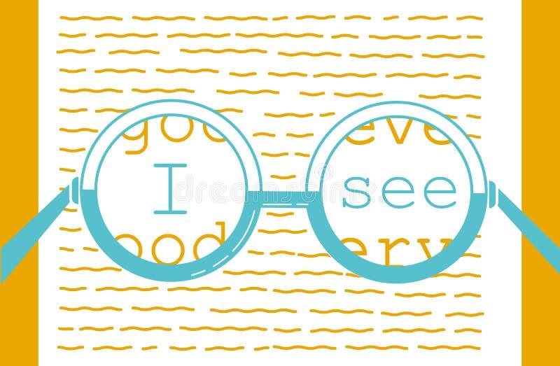 Pojęcie wzroku wyzdrowienie ilustracji