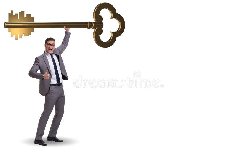 Pojęcie z kluczem sukces ilustracja obraz stock