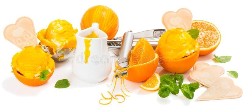 Download Pojęcie Z Pomarańczowym Lody Zdjęcie Stock - Obraz złożonej z tło, żelazo: 53785558
