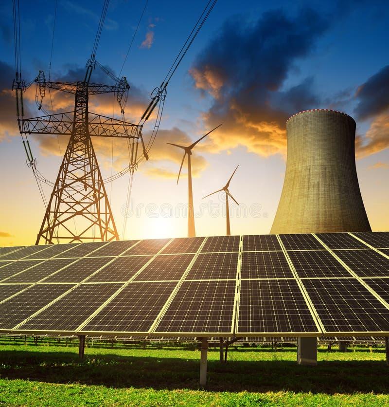 Pojęcie zasoby energii obraz royalty free