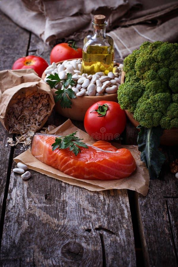 Pojęcie zdrowy jedzenie dla serca zdjęcie stock
