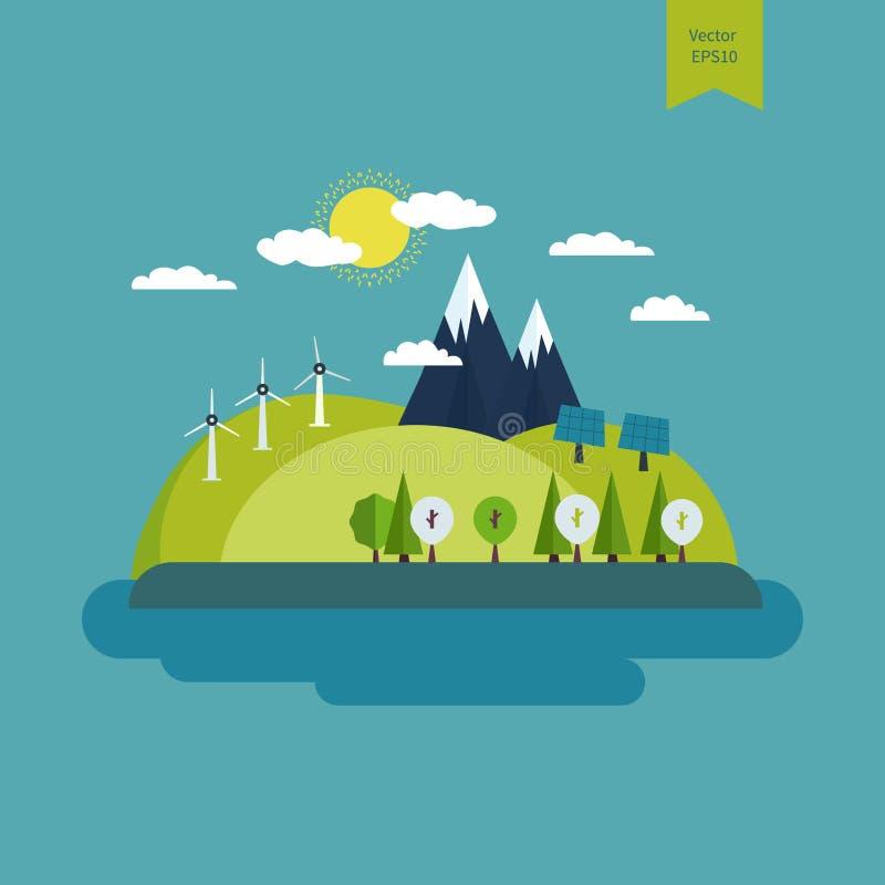 Pojęcie zielona energia royalty ilustracja