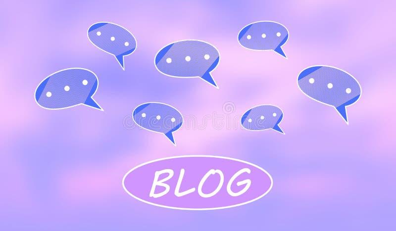 Poj?cie blog royalty ilustracja